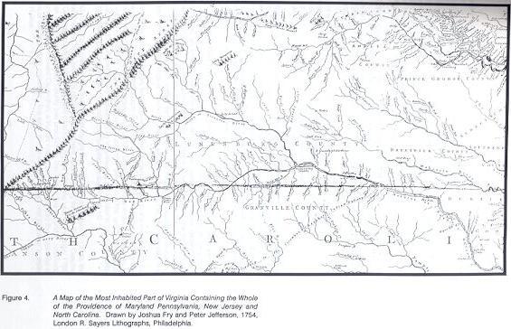 Map Of Virginia 1750.Halifax County Virginia History